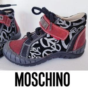 MOSCHINO Trendy Toddler Sneaker Booties